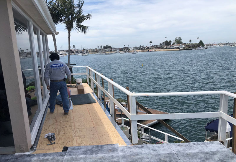 New Deck Flashing Balboa Island